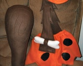 Bam Bam (Bamm Bamm) Rubble Flintstone costume -With club & hat- child's sizes: 18mo, 2T,3T,or 4T- Brand New for Halloween, Smash Cake, etc.
