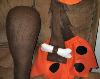 Bam Bam (Bamm Bamm) Rubble Flintstone costume -With club & hat- child's sizes: 18mo, 2T,3T,or 4T- Brand New