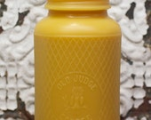 "XXL Beeswax Candle - antique bottle shaped -  ""Old Judge Coffee full-Quart Mason Jar w/ Owl and Harlequin"" - by Pollen Arts"