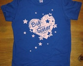 Big Sister Shirt - 8 Colors Available - Kids T shirt Sizes 2T, 4T, 6, 8, 10, 12 - Gift Friendly