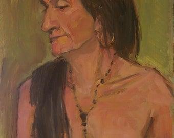 Portrait of a Woman - original oil painting