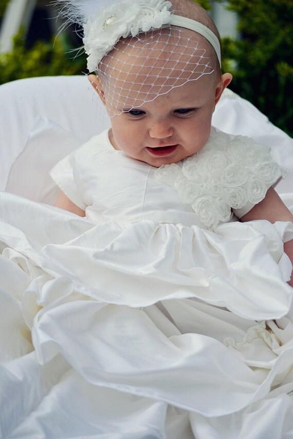 Items similar to Dupioni Silk Baby Girl Blessing