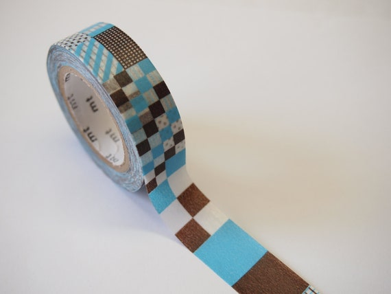 mt MIX PATCHWORK BLUE Masking Tape (10M)