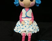Button Eyed Doll Polymer Clay Cake Topper