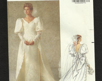 Butterick 5206 Victorian Inspired Wedding Gown with Pencil Skirt and Detachable Train Sizes 6-12