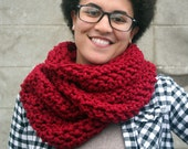 the whittier - crochet chunky wool infinity scarf - choose the color - free US shipping