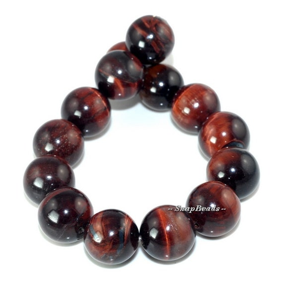 Red Tigers Eye Stone 14MM Mahogany Red Tige...