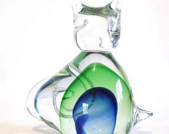 Stunning Mid Century Murano Glass Cat Sculpture