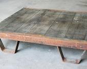 Vintage Industrial Coffee Table Pallet // Industrial Furniture
