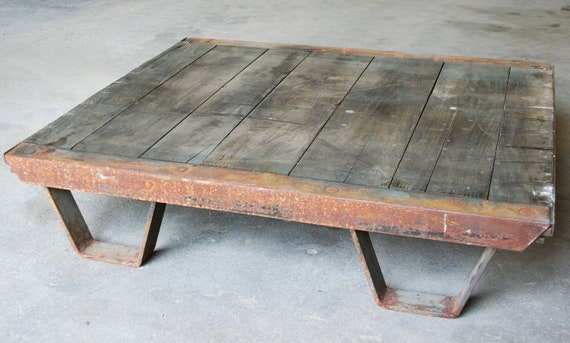 RESERVED for EDGAR: Industrial Coffee Table Pallet