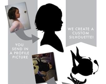 Personalized Profile Silhouette in Oval Frame-Wall Decal Custom Vinyl Art Stickers