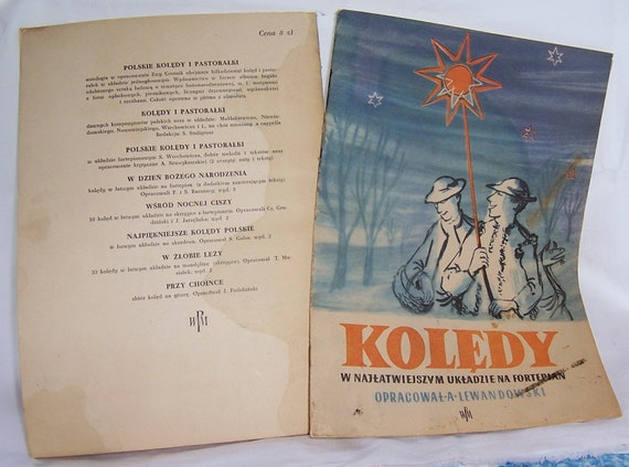 Polish Song Books Paper Ephemera, Vintage Collectible Paper Products, Vintage Ethnic Collectible, Vintage Songbook
