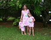 Matching dresses - mother daughter outfit -  mother daughter dress - mother daughter tunics - matching outfits - hand painted clothes
