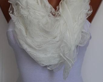 White Elegance Shawl/Scarf
