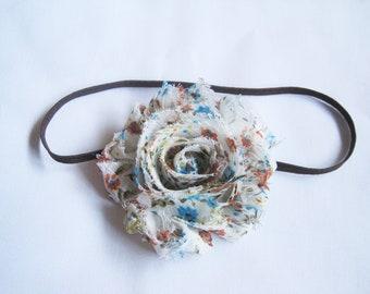 SALE, Country Floral Headband, Baby Headbands, Infant Headbands, Baby Girl Headbands, Baby Bow, Infant Bow, Girl Headbands