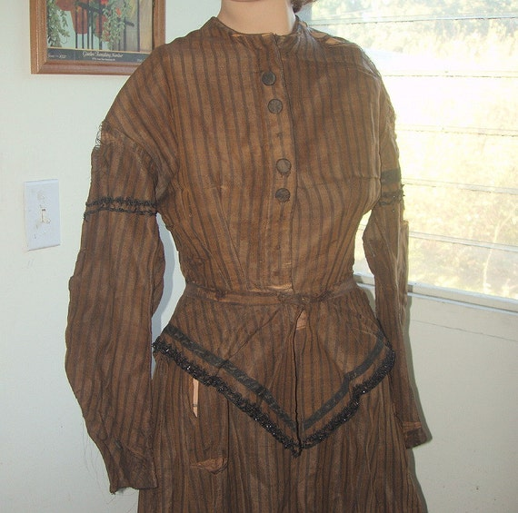 1800s Victorian Dress / for study / pattern making / display