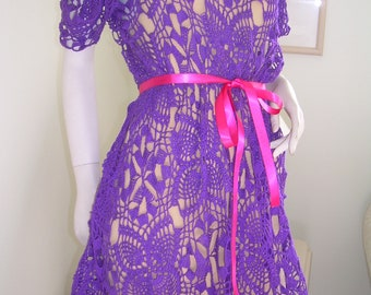 Pineapple Lacy Diamond Dress