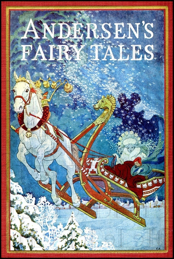 The Snow Queen. Andersen's Fairy Tale Book Cover