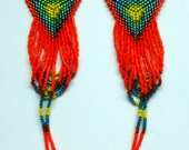 Bird of Paradise Beaded Earrings