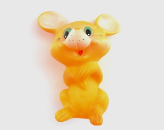 Soviet vintage rubber toy Mouse Soviet collectible, USSR 1980s