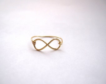 Cyber Monday - Gold Infinity Ring // Infinity Ring