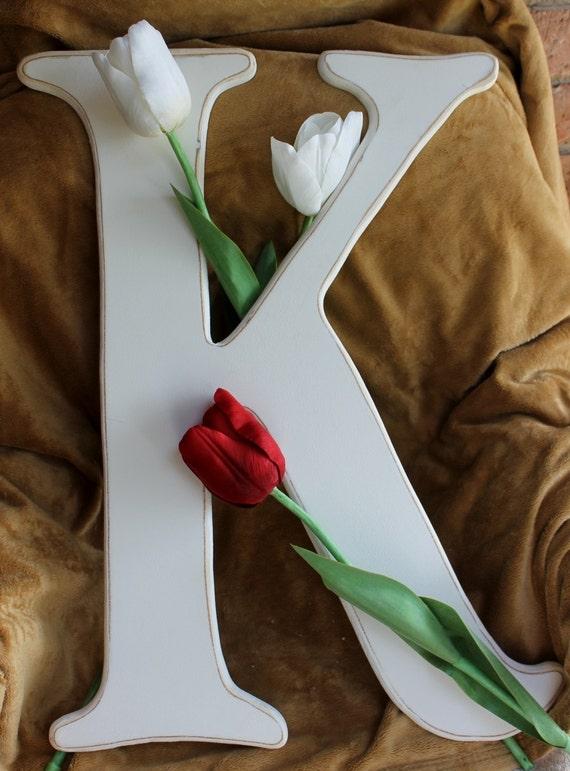 Special large wooden letter k wedding letters by 2rustynails for Large wooden letter k