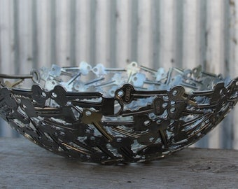 Extra Large key bowl 34 cm, Key bowl, Metal Bowl, Metal sculpture ornament, Made to order
