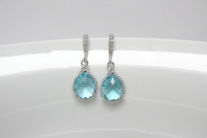 aquamarine earring