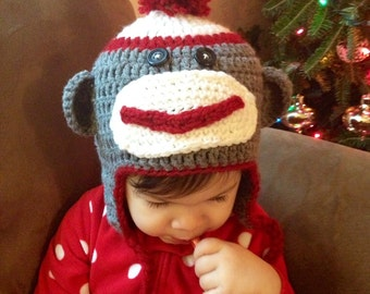 Crochet Sock Monkey hat