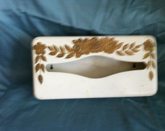 Vintage Ransburg tole tissue box
