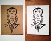 Owl Always Love You - Owl Card - Cute Card  - Hand Made Birthday Card