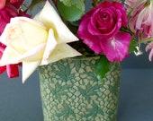 Lace Leaf Vase