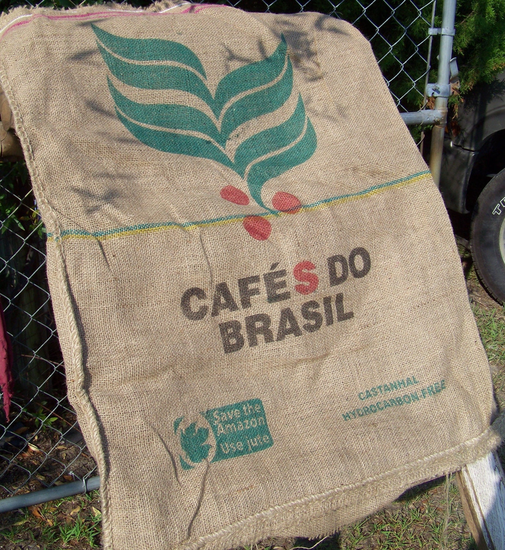 Burlap Coffee Bean Bag Burlap Sack For Altered Purse Pillows