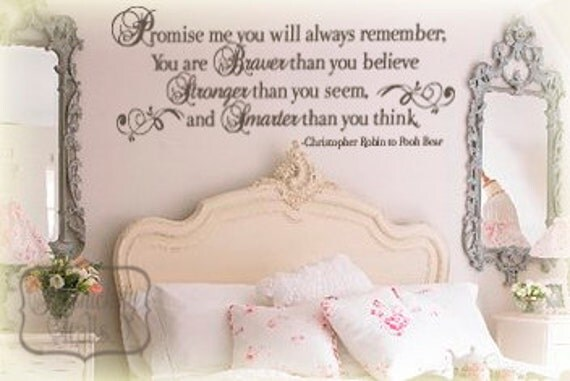 Promise Me You will Always Remember... inspirational vinyl wall quote - vinyl decal sticker