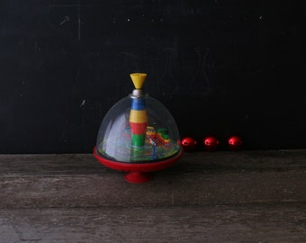 Vintage Spinning Top With Train From the 60s From Nowvintage on Etsy