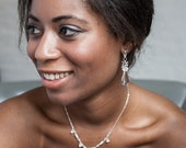 Crystal Bridal Earrings, Vintage Earring Dangle, Long Drop Earrings, Wedding Chandelier Earrings, Wedding Jewelry Bridal Earring