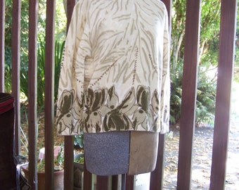 1950s Darlene Angora Sweater Hand Screen print Designer VINTAGE by Plantdreaming