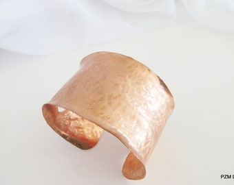 Hammered copper cuff, tribal arm band, modern ethnic copper jewelry, gift under 40
