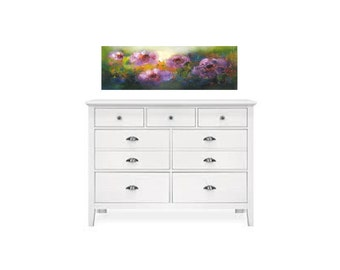 Nursery girls bedroom painting soft floral composition perfect over tallboy dresser or headboard with no glass it's safe for children's room
