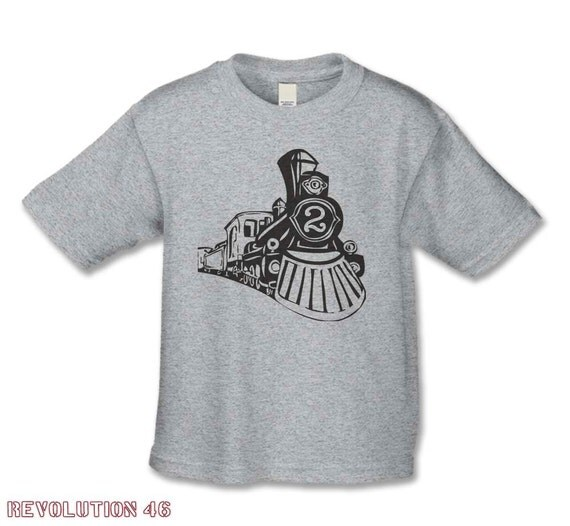 2nd Birthday Shirt - Vintage Train Party - Train Museum Birthday - Number  2 Train T-Shirt - Personalized Shirts - Choose Your  Number