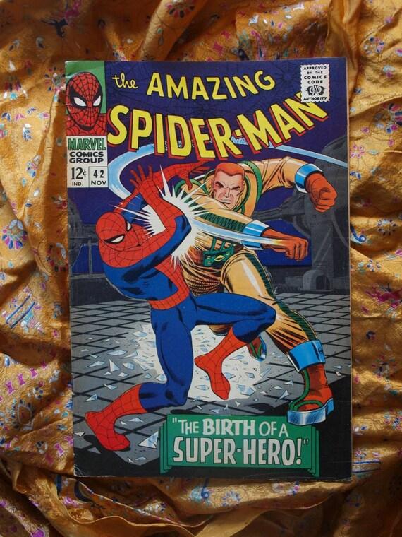 Amazing Spider-Man No 42 Marvel Comic 1966  Mary Jane reveal Super Hero Rhino Foggy Very Fine Romita