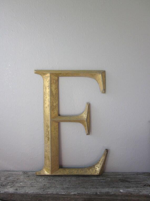Vintage Letter E