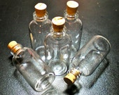 10 Wide Glass Bottle Vials with Cork. Size 2 inch tall Vial. Item - 2450