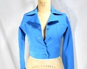 vintage 1970s cropped jacket / size small