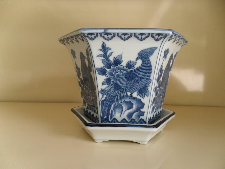 Vintage Andrea By Sadek Porcelain Flower Pot By Antiqfinds On Etsy