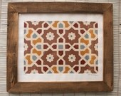 Indian Tiles Paper Print - Limited Edition of 40 - Unframed