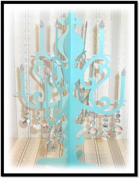 tiffany blue chandelier