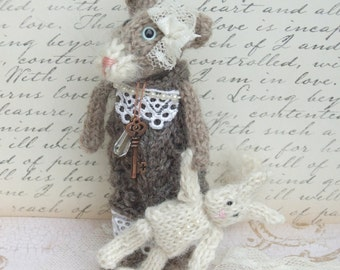 Knitted Cat withToy Bunny BUY 2 Patterns, GET 1 FREE