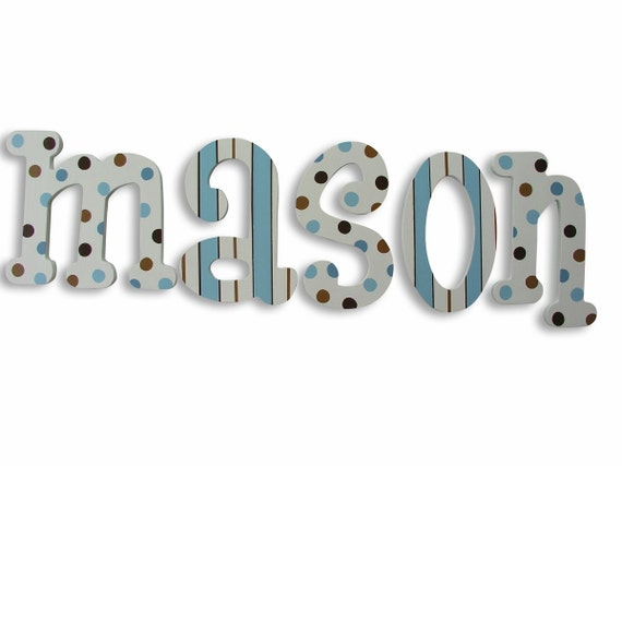 Wood Wall Letters For Nursery Wall Decor Wooden Letters