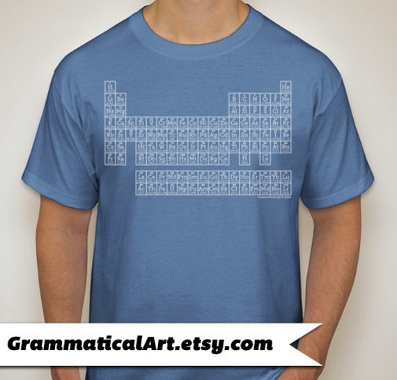 Science shirt periodic table of elements t shirt by for Custom periodic table t shirts